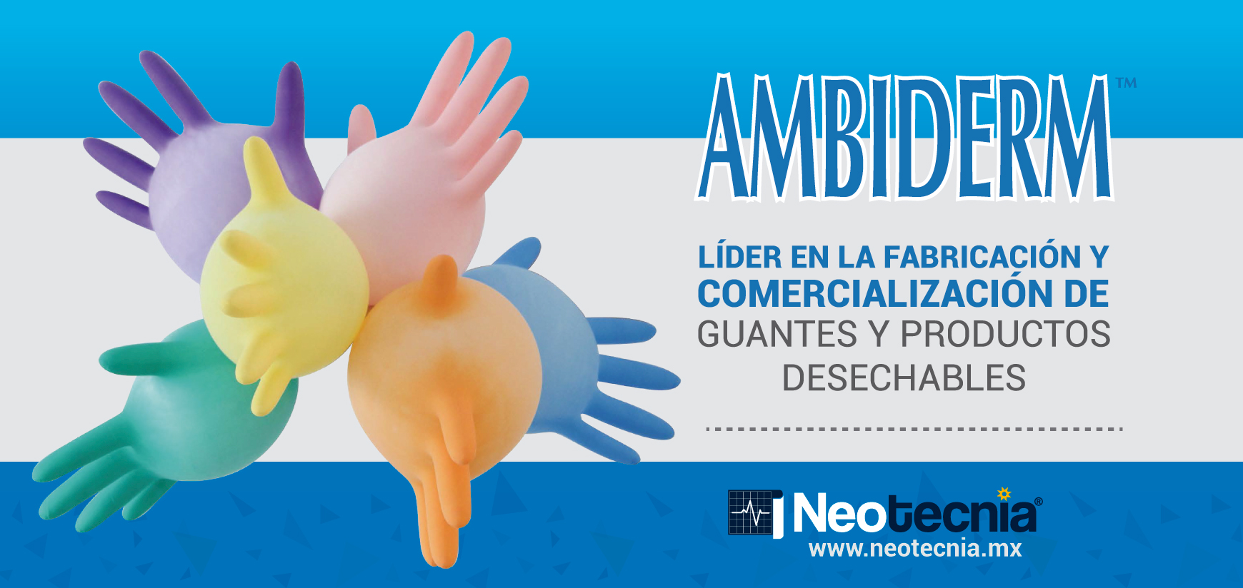 Banner Guantes Ambiderm Neotecnia