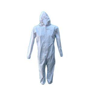 Overol blanco de protección 100% con cubierta de PVC
